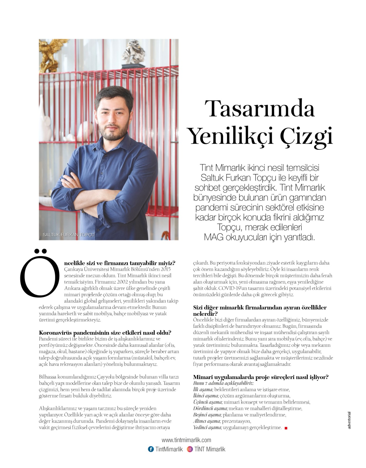 Tasarımda Yenilikçi Çizgi, Mag Dergisi Röportajı